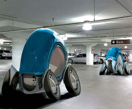 Future Cars Parking Garage